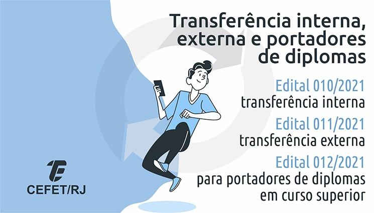 DIREN divulga os editais de transferência interna, externa e para diplomados em curso superior