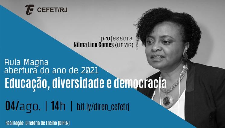 """Aula magna """"Educação, diversidade e democracia"""""""
