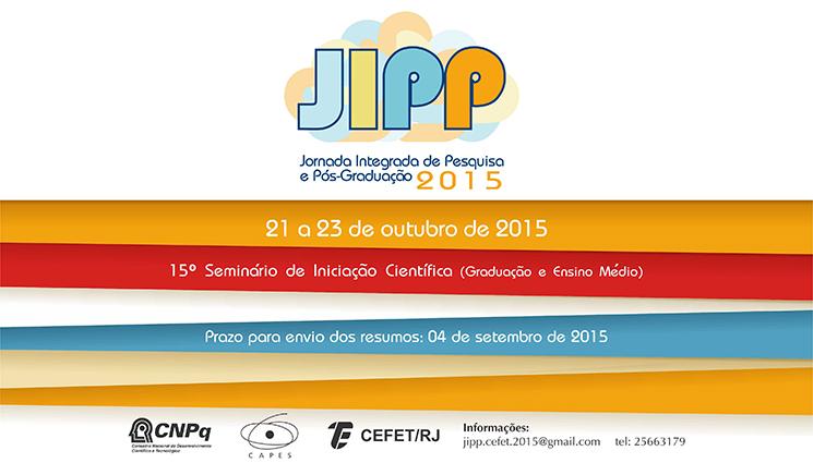 Envio de resumos para a Jornada Integrada de Pesquisa e Pós-Graduação (JIPP)