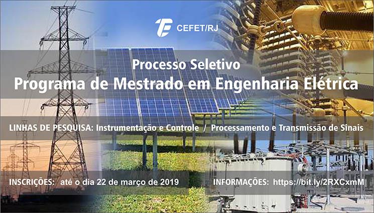 Inscrições abertas para o mestrado em Engenharia Elétrica