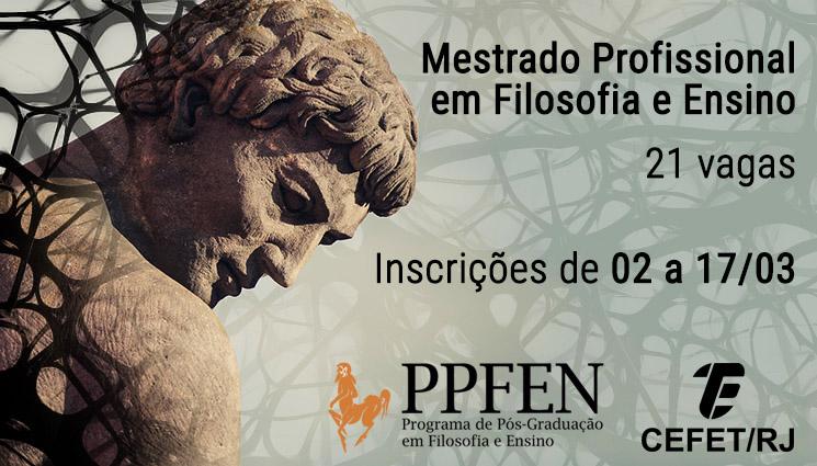 Cefet/RJ abre 21 vagas para mestrado profissional em Filosofia e Ensino