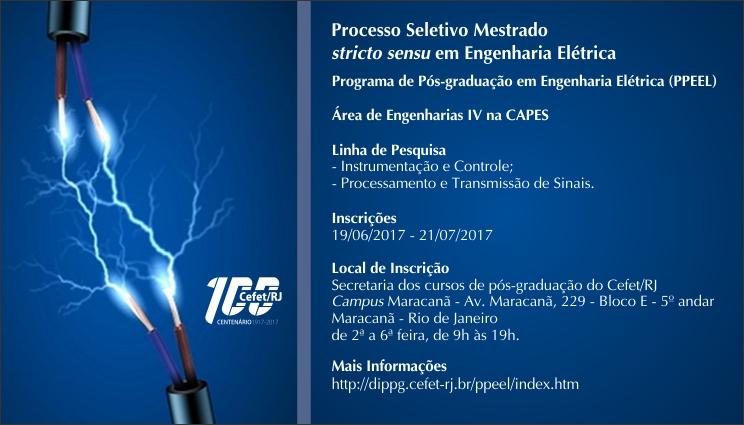 Seleção para o mestrado em Engenharia Elétrica - inscrições até 21/07/2017