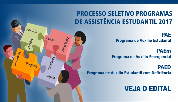 Processo seletivo para Programas de Assistência Estudantil 2017