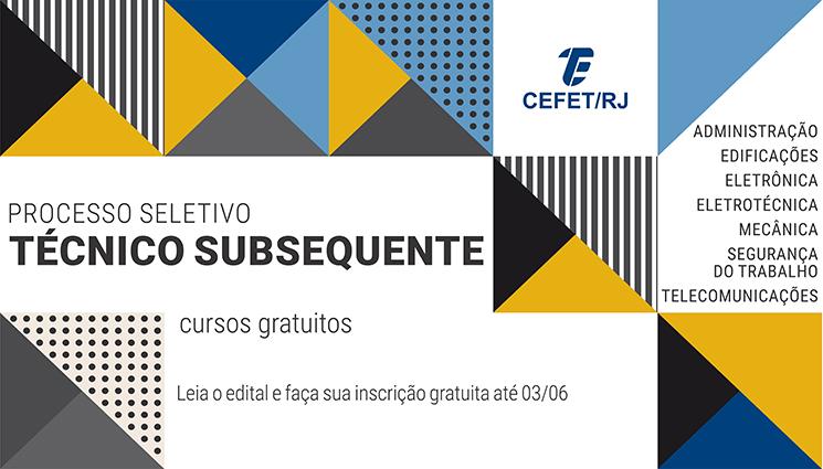 Inscrições abertas para o processo seletivo dos cursos técnicos subsequentes